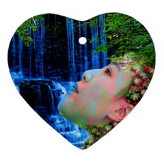 Fountain Of Youth Heart Ornament (two Sides) by icarusismartdesigns