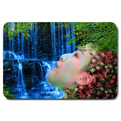 Fountain Of Youth Large Door Mat by icarusismartdesigns