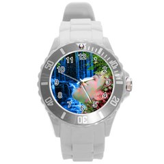 Fountain Of Youth Plastic Sport Watch (large) by icarusismartdesigns