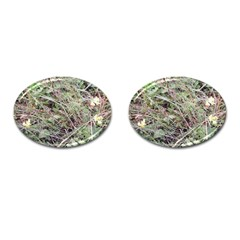 Linaria Grass Pattern Cufflinks (oval) by ansteybeta