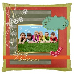 Xmas By Xmas   Large Flano Cushion Case (two Sides)   Pd0rb6udxze9   Www Artscow Com Front