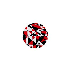 Shattered Life Tricolor 1  Mini Button by StuffOrSomething