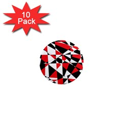 Shattered Life Tricolor 1  Mini Button Magnet (10 Pack) by StuffOrSomething