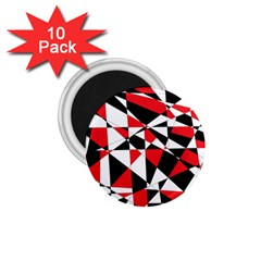 Shattered Life Tricolor 1 75  Button Magnet (10 Pack) by StuffOrSomething