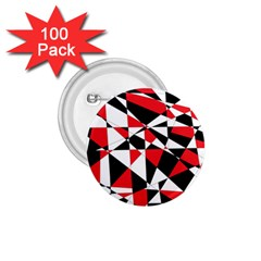 Shattered Life Tricolor 1 75  Button (100 Pack) by StuffOrSomething