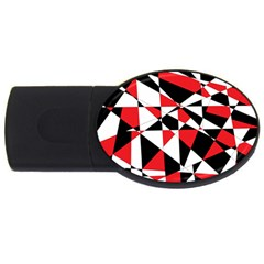 Shattered Life Tricolor 1GB USB Flash Drive (Oval) by StuffOrSomething