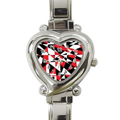 Shattered Life Tricolor Heart Italian Charm Watch  by StuffOrSomething