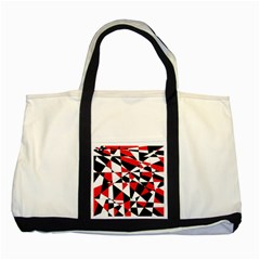 Shattered Life Tricolor Two Toned Tote Bag by StuffOrSomething