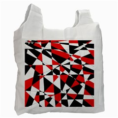 Shattered Life Tricolor White Reusable Bag (one Side) by StuffOrSomething