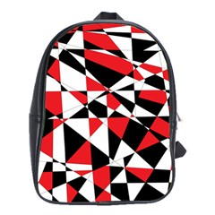 Shattered Life Tricolor School Bag (Large) by StuffOrSomething