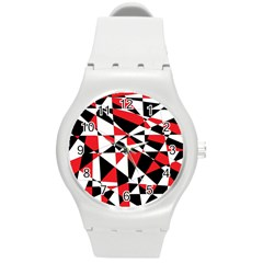 Shattered Life Tricolor Plastic Sport Watch (medium) by StuffOrSomething