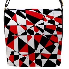 Shattered Life Tricolor Flap Closure Messenger Bag (small) by StuffOrSomething