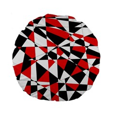 Shattered Life Tricolor Standard 15  Premium Flano Round Cushion  by StuffOrSomething