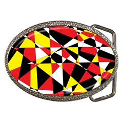 Shattered Life With Rays Of Hope Belt Buckle (oval) by StuffOrSomething