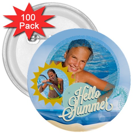 Summer By Summer Time    3  Button (100 Pack)   2qi0h8edug6f   Www Artscow Com Front