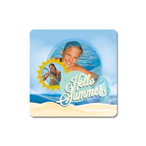 Summer By Summer Time    Magnet (square)   Lbl8zev7lycc   Www Artscow Com Front