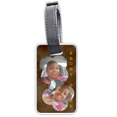 Lt Ebony Brown By Beverly A  Terrell   Luggage Tag (two Sides)   Xqbbc7ooor0t   Www Artscow Com Back