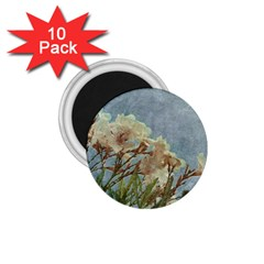 Floral Grunge Vintage Photo 1.75  Button Magnet (10 pack) by dflcprints