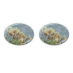 Floral Grunge Vintage Photo Cufflinks (oval) by dflcprints