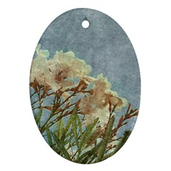 Floral Grunge Vintage Photo Oval Ornament (two Sides) by dflcprints