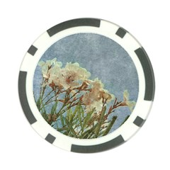Floral Grunge Vintage Photo Poker Chip by dflcprints