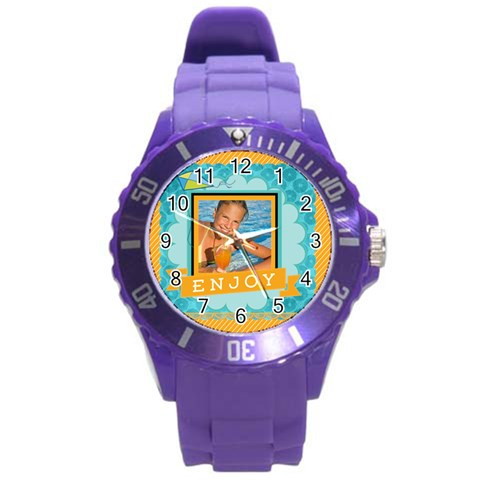 Summer By Summer Time    Round Plastic Sport Watch (l)   G2ihtme9ds55   Www Artscow Com Front