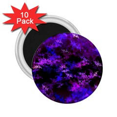Purple Skulls Goth Storm 2 25  Button Magnet (10 Pack) by KirstenStar