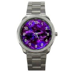 Purple Skulls Goth Storm Sport Metal Watch