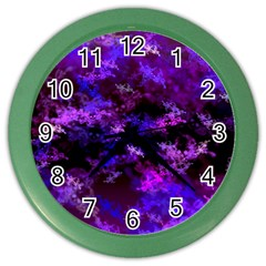 Purple Skulls Goth Storm Wall Clock (color) by KirstenStar