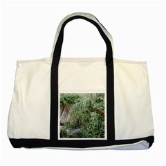 Rustic Grass Pattern Two Toned Tote Bag by ansteybeta