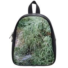 Rustic Grass Pattern School Bag (small) by ansteybeta
