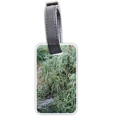 Rustic Grass Pattern Luggage Tag (two Sides) by ansteybeta