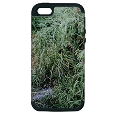 Rustic Grass Pattern Apple Iphone 5 Hardshell Case (pc+silicone) by ansteybeta