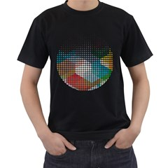 Halftone Circle Colors Men s T-shirt (Black) by FNCYCO
