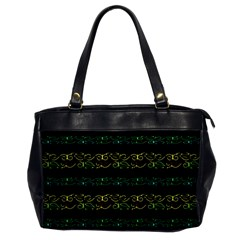 Modern Lace Stripe Pattern Oversize Office Handbag (one Side) by dflcprints