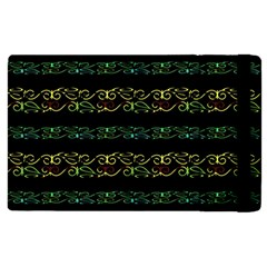 Modern Lace Stripe Pattern Apple Ipad 2 Flip Case by dflcprints