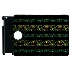 Modern Lace Stripe Pattern Apple Ipad 3/4 Flip 360 Case by dflcprints