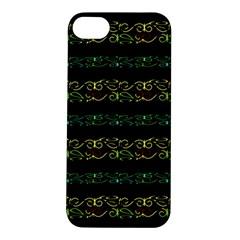 Modern Lace Stripe Pattern Apple Iphone 5s Hardshell Case by dflcprints