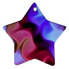 Rippling Satin Star Ornament (Two Sides) by KirstenStar