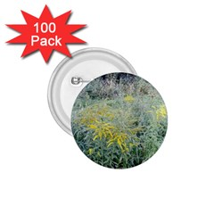 Yellow Flowers, Green Grass Nature Pattern 1 75  Button (100 Pack) by ansteybeta