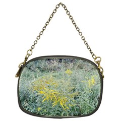 Yellow Flowers, Green Grass Nature Pattern Chain Purse (two Sided)  by ansteybeta