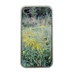 Yellow Flowers, Green Grass Nature Pattern Apple Iphone 4 Case (clear) by ansteybeta