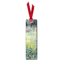 Yellow Flowers, Green Grass Nature Pattern Small Bookmark by ansteybeta