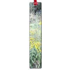 Yellow Flowers, Green Grass Nature Pattern Large Bookmark by ansteybeta