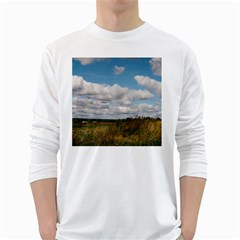 Rural Landscape Men s Long Sleeve T Shirt (white)
