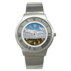 Rural Landscape Stainless Steel Watch (slim)
