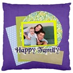 family - Large Flano Cushion Case (Two Sides)