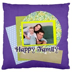 Family By Joely   Large Flano Cushion Case (two Sides)   G02s209i9uk6   Www Artscow Com Back