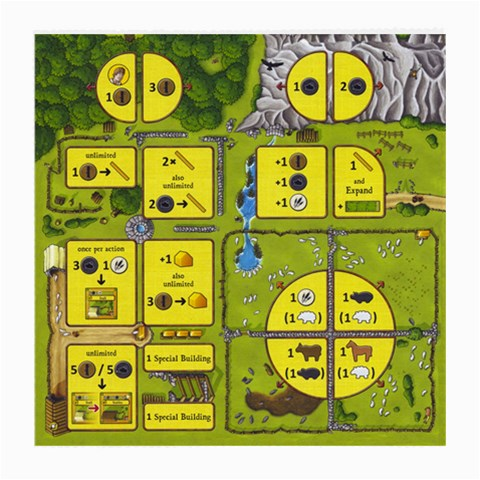 Board For Agricola All Creatures Great & Small By Alex C   Medium Glasses Cloth   A2mm26wnq45r   Www Artscow Com Front