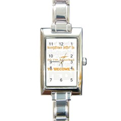 Howarts Letter Rectangular Italian Charm Watch by empyrie